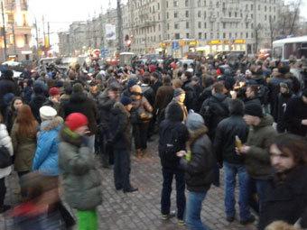 Активисты на Пушкинской площади. Фото @kozlovsky