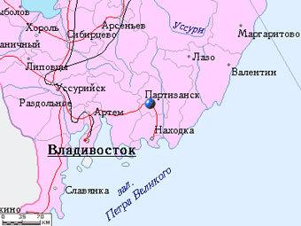 Партизанск на карте с сайта mojgorod.ru