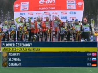 Церемония награждения. Кадр трансляции с сайта Sportbox.Ru