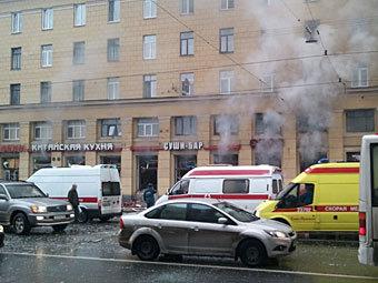 """Пожар в """"Харбине"""". Фото с сайта fontanka.ru"""