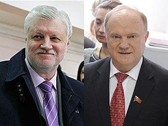 Сергей Миронов (фото Reuters) и Геннадий Зюганов (фото РИА Новости, Алексей Филиппов)