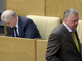 Сергей Миронов и Владимир Жириновский