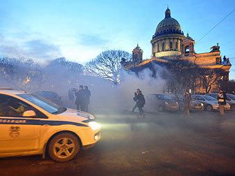 Акция на Исаакиевской плошади. Фото ИТАР-ТАСС, Руслан Шамуков