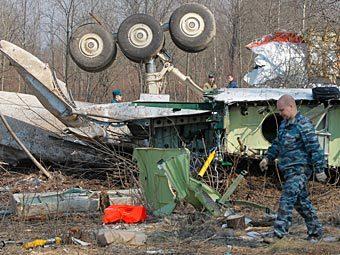 Место крушения польского правительственного самолета. Фото РИА Новости, Илья Питалев