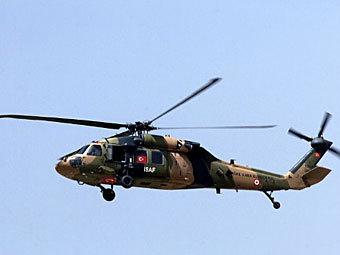 Турецкий вертолет в Афганистане. Фото ©AFP