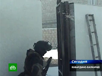 Спецоперация в КБР. Кадр телеканала НТВ