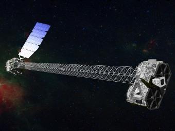 Модель NuSTAR. Иллюстрация NASA