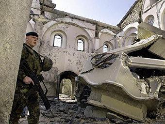 Разрушенный храм в Косово. Архивное фото ©AFP