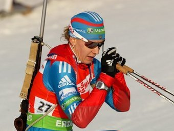 Ольга Вилухина. Фото с официального сайта Союза биатлонистов России