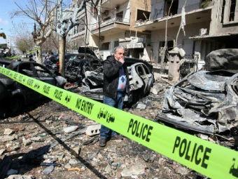 На месте взрыва в Дамаске. Фото ©AFP