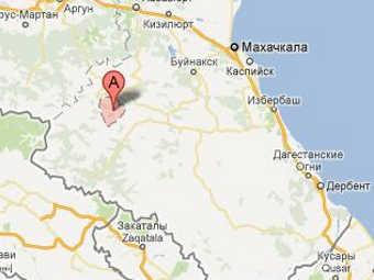 Ахвахский район на карте Дагестана. Изображение с сайта maps.google.ru