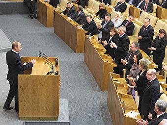 Выступление Владимира Путина в Госдуме. Фото РИА Новости, Григорий Сысоев