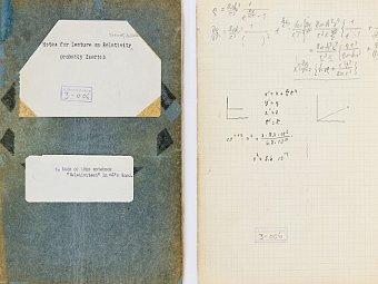 Заметки Эйнштейна по теории относительности, Цюрихский дневник. Фото с сайта проекта.
