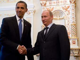 Барак Обама и Владимир Путин. Архивное фото ©AFP