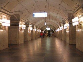 "Станция ""Спортивная"". Фото пользователя Andrey Volykhov с сайта ru.wikipedia.org"