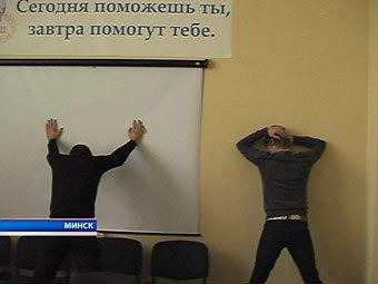 """Задержание представителей """"МММ-2011"""" в Минске. Кадр телеканала СТВ"""
