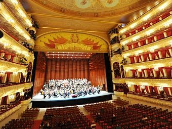 Репетиция на сцене Большого театра. Фото РИА Новости, Владимир Вяткин