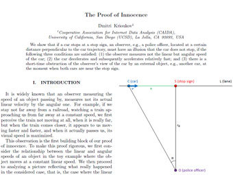 Наука помогла физику избежать наказания за нарушение ПДД