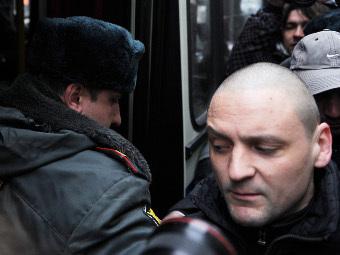 Задержание Сергея Удальцова. Фото Владимира Астапковича, РИА Новости