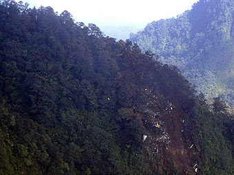 Место катастрофы SSJ-100. Фото ВВС Индонезии, переданное ©AP