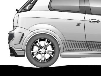 Самая глубокая точка продавливания покрытия всегда находится немного позади колеса, поэтому автомобиль постоянно движется немного в гору. Изображение Mehdi Akbarian.