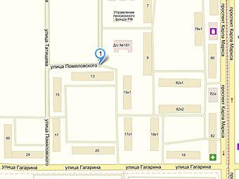 """Улица Помяловского. Изображение из сервиса """"Яндекс.Карты"""""""