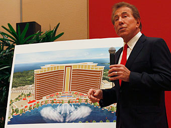 Стив Уинн на презентации проекта казино в Макао. Фото Reuters