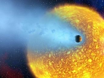 Экзопланета в представлении художника. Изображение NASA, European Space Agency, Alfred Vidal-Madjar