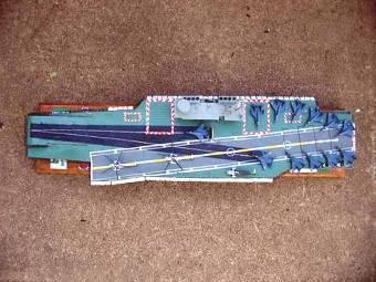 """Модель авианосца типа """"Викрант"""". Фото с сайта bharat-rakshak.com"""
