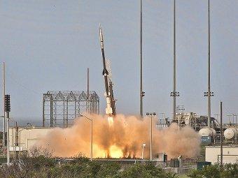 Старт ракеты-носителя со щитом. Кадр NASA