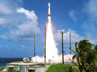 Испытание ракеты-перехватчика на атолле Кваджелейн. Архивное фото Reuters