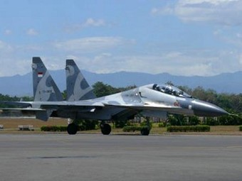 Су-30МК2 на ВВСна Индонезия. Снимка от сайта thejakartapost.com