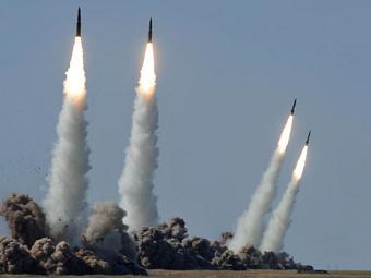 """Запуск ракет комплекса """"Искандер"""". Фото с сайта mil.ru"""