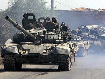 Российские танки в  Южной Осетии. Архивное фото ©AFP