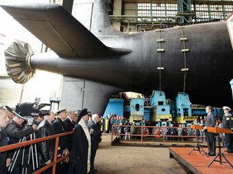 """Спуск на вода на АП """"Северодвинск"""". Снимка пресслужба на президента на Русия"""