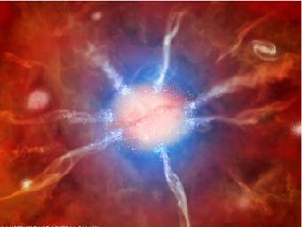 """Центральная галактика кластера """"Феникс"""". Изображение с сайта CfA"""