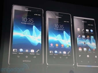 Sony анонсировала три планшета и три смартфона