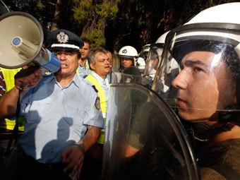 Акция протеста греческих полицейских. Фото Reuters