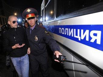Задержание Сергея Удальцова 15 сентября 2012 года. Фото РИА Новости, Рамиль Ситдиков