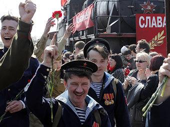 Празднование Дня Победы в Санкт-Петербурге. Фото РИА Новости, Алексей Даничев
