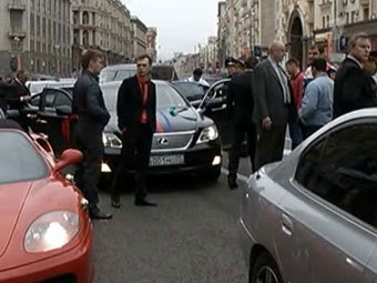 Кадр телеканала НТВ с места происшествия