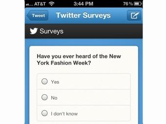 Опросы в Twitter