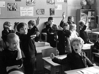 Советские школьники. Фото Сергея Гунеева из архива РИА Новости