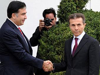 Михаил Саакашвили и Бидзина Иванишвили. Фото ©AFP