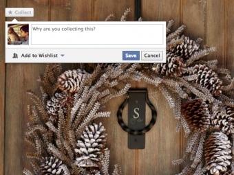 Кнопка Collect на фотографии товара