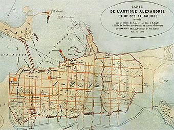 Карта древней Александрии. Изображение CEAlex Archives J-Y. Empereur