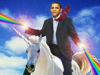 Изображение из блога Tumblr, посвященного фразе Барака Обамы о конях и штыках