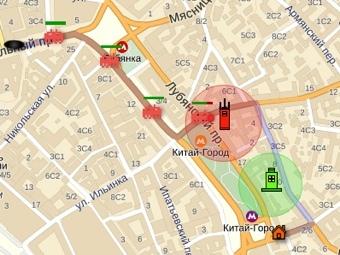 """Скриншот игры на """"Яндекс.Картах"""""""