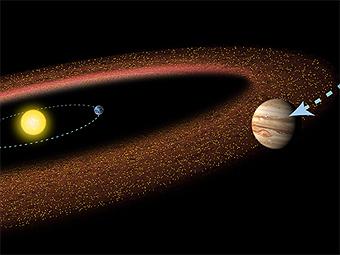 Движение гиганта к центру системы необходимо для формирования внутренних планет. Изображение NASA/ESA/STScI