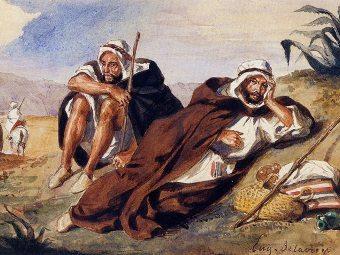 """Фрагмент картины Эжена Деклакруа """"Арабы из Орана"""". Фото с сайта galerieschmit.com"""